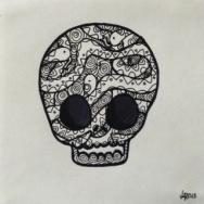 Calaca de 4 serpientas